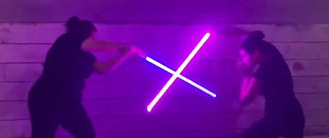 Snippets: Combat – Lightsaber with Celina Lee Surniak and Mollie Wilson