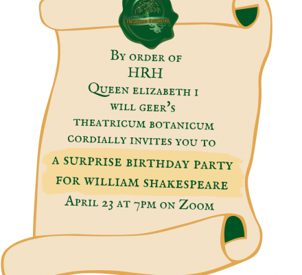 Shakespeare's Surprise Birthday Party